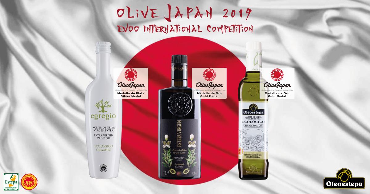 Olive Japan rewards the high quality of the Oleoestepa´s extra virgin olive oils
