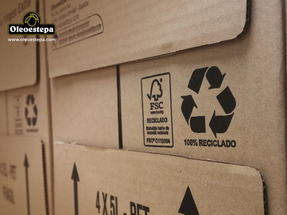 Oleoestepa opta por el cartón reciclado para sus cajas logísticas