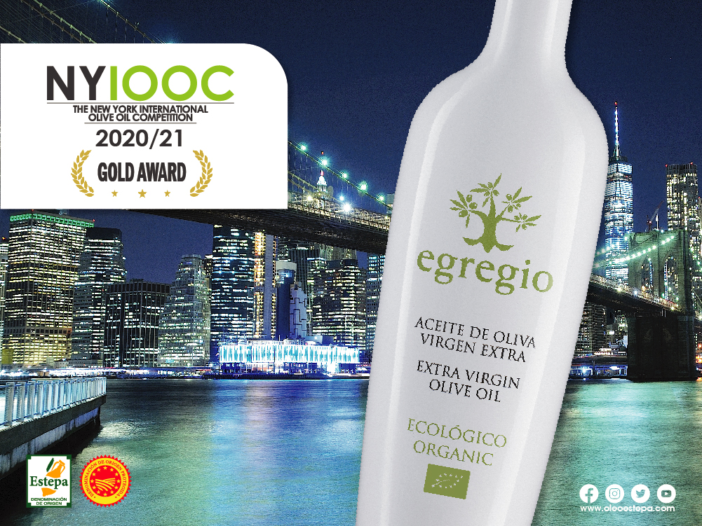 El aceite de oliva virgen extra ecológico EGREGIO ve reconocida su alta calidad en Nueva York