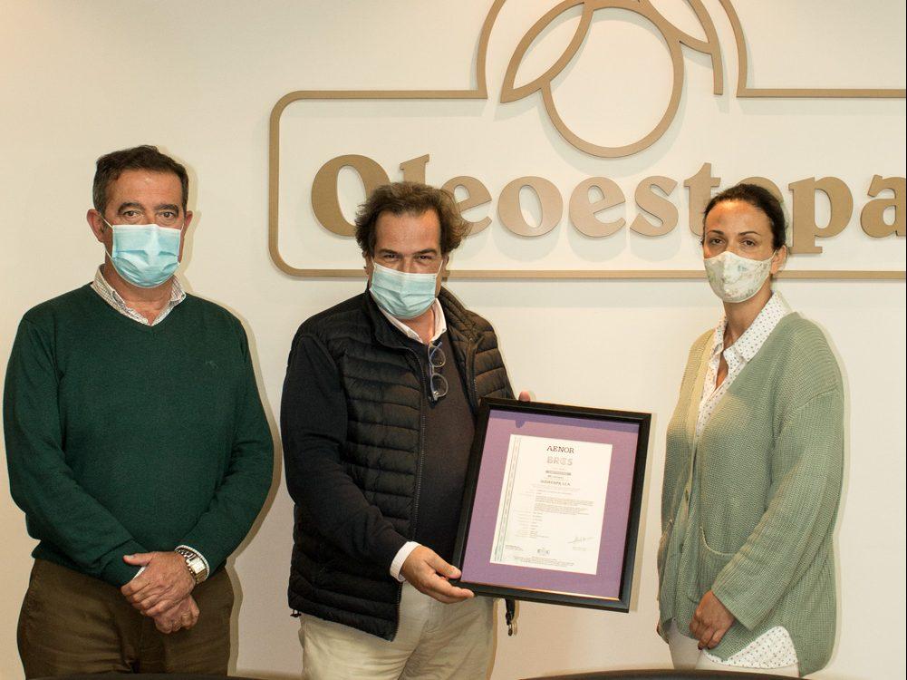 Oleoestepa logra la renovación del certificado BRC con el máximo grado