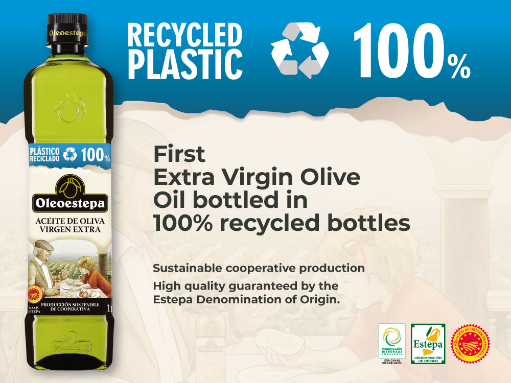 Oleoestepa launches the first extra virgin olive oil in a bottle made entirely with recycled plastic